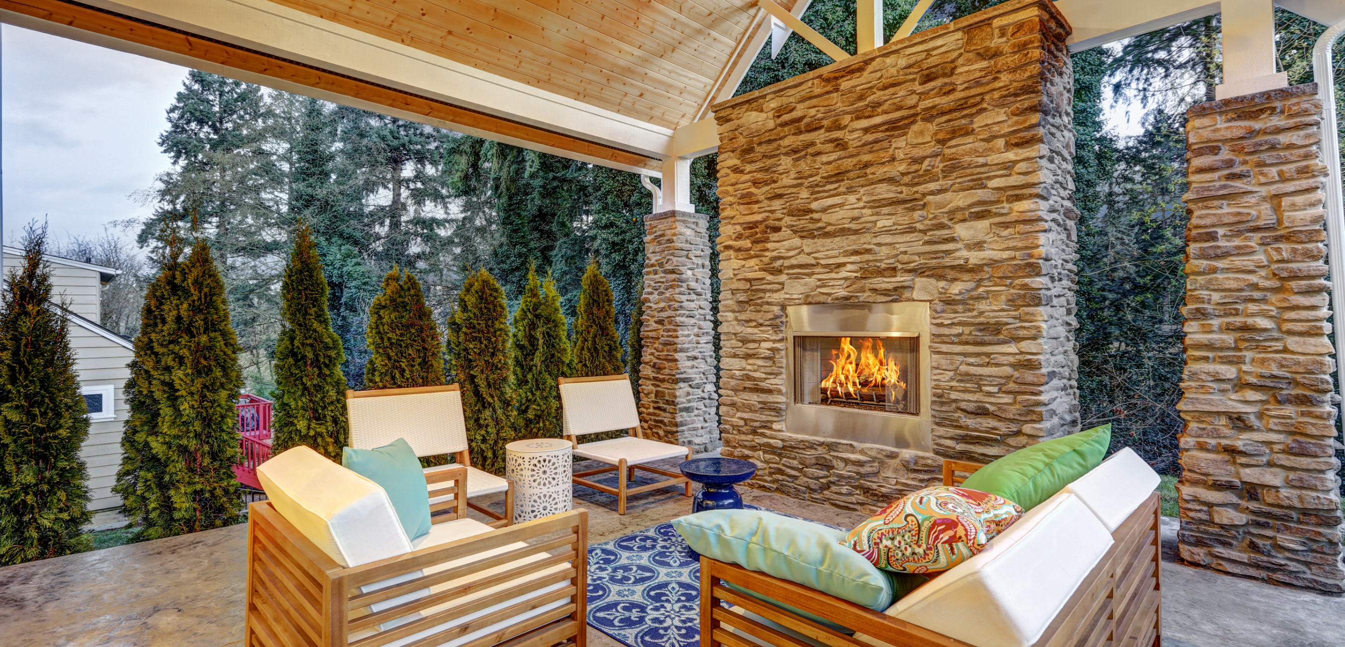 best outdoor electric fireplace