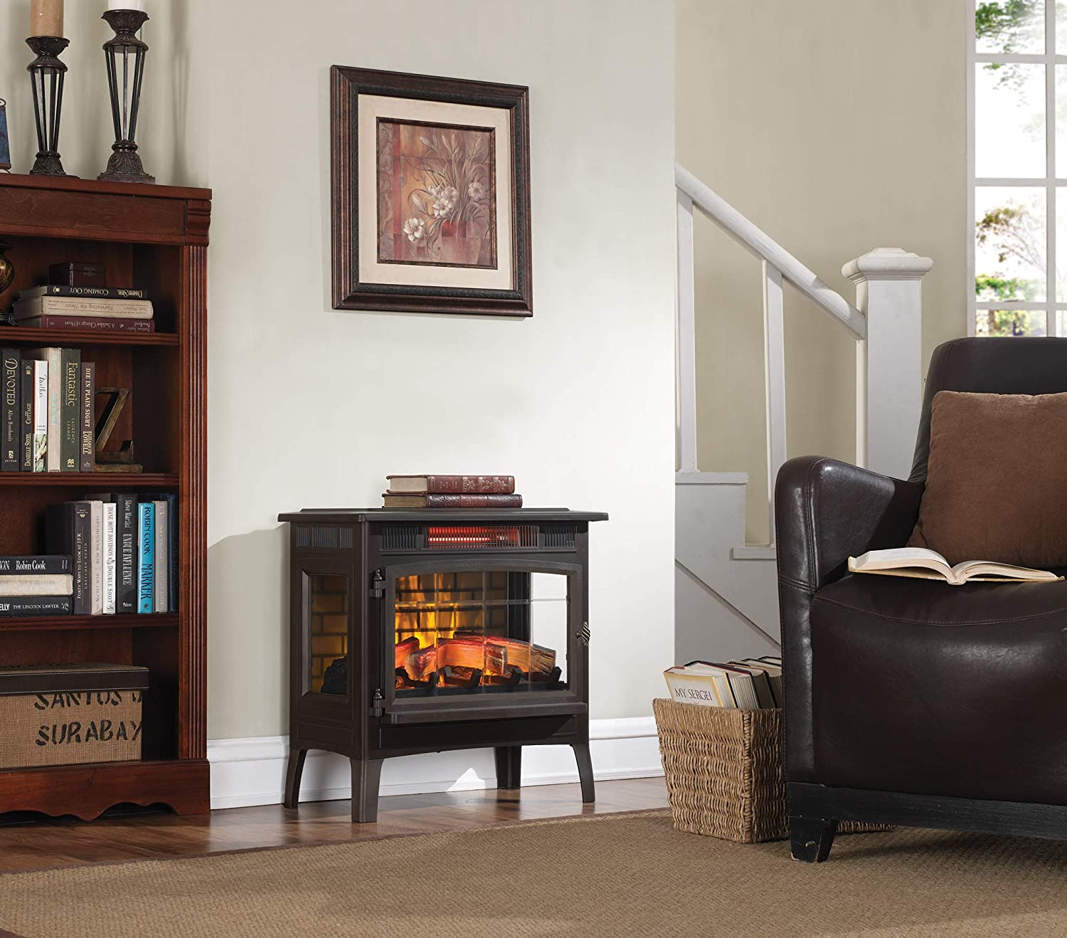 best electric fireplace for rv
