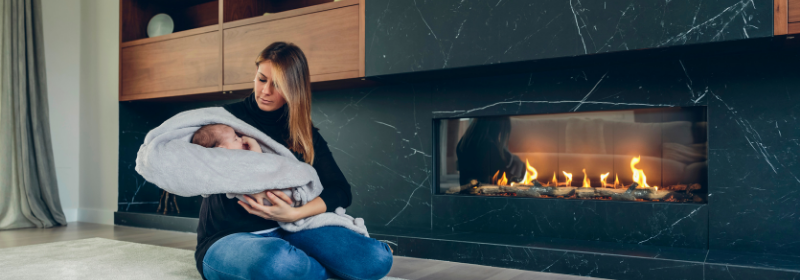 do electric fireplaces produce heat