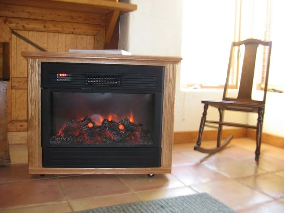 how does a fireless fireplace work